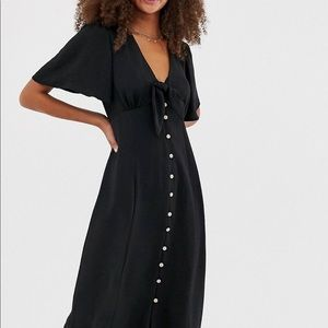 New Look Tie Front button down midi dress
